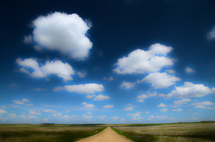 prairie road (Harry2010) Tags: road cloud canada bluesky saskatchewan grassland prairies gravelroad
