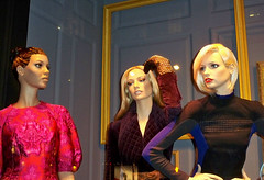 Saks: Framed, 3 Together (closer, night) (Viridia) Tags: nyc newyorkcity urban newyork mannequin fashion frames mannequins dress manhattan nightshoot dresses fifthavenue saksfifthavenue saks stellamccartney storewindows newyorkny summerfall windowdisplays alexandermcqueen newyorkcityny burberryprorsum 5thavenuenyc sakscompany midtownnyc saksfifthavenuewindows rootsteinmannequins saksfifthavenuewindowdisplay saksfifthavenueflagshipstore saksfifthavenuewindowdisplays