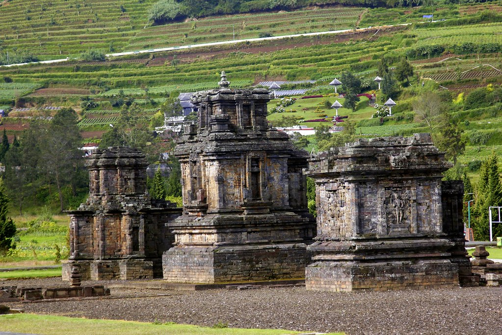 The Komplek Candi Arjuna, Dieng Plateau, Central Java, Indonesia