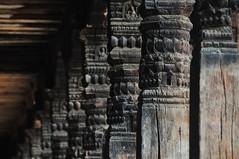 Wooden art (MelindaChan ^..^) Tags: wood nepal art heritage wooden pillar craft pole mel kathmandu melinda bhaktapur 尼泊爾 chanmelmel melindachan