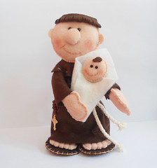 Santo Antônio (Fábrica de Artes by lubieska) Tags: casamento feltro santo antônio bouque
