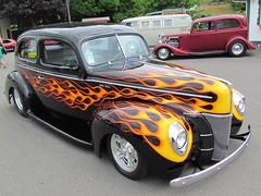 Flamed 40 Ford (bballchico) Tags: ford sedan paint 1940 tudor flame carshow jimhart goodguys goodguyspuyallup photobballchico2012 goodguyspacificnwnationals