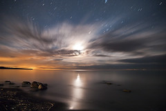 K20D8368 (Bob West) Tags: longexposure nightphotography ontario beach night clouds lakeerie greatlakes moonlight nightshots startrails southwestontario bobwest k20d pentax1650f28