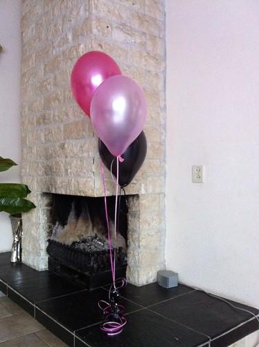 Tafeldecoratie 3ballonnen Sweet 16