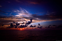 Another sunset. (Kush0607) Tags: ocean blue sunset red sea vacation sky sun water clouds sunrise dawn boat dynamic pacific dusk atlantic 7d