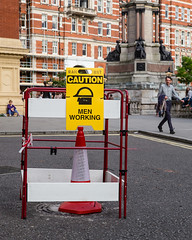 pardon? (mniesemann) Tags: ifttt 500px london street photography signs man colors yellow buildings red tarmac woman schilder funny comical leica m