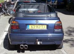 Volkswagen Golf 3 cabrio 1994 nr2169 (a.k.a. Ardy) Tags: 63hjtj softtop