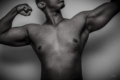 Flex (2014) (E.Fraser) Tags: flex flexing muscle muscles arms blackandwhite blackwhite bw selfie self selfshot selfportrait selfshoot photo portrait photography people photostream pose