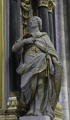 St Louis of France (Lawrence OP) Tags: king saint louisix stlouis france amiens cathedral sculpture statue crownofthorns