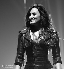Demi Lovato @ KeyArena (Kirk Stauffer) Tags: kirk stauffer nikon d5 adorable amazing attractive awesome beautiful beauty charming cute darling fabulous feminine glamour glamorous goddess gorgeous lovable lovely perfect petite precious pretty siren stunning sweet wonderful young female girl lady woman women live music tour concert show stage gig song sing singer singing vocals vocalist perform musician band lights lighting indie pop long brown hair brunette eyes red lips model tall legs boots heels fashion portrait photo smile smiling black white bw