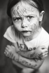 79| 100 (trois petits oiseaux) Tags: kids trouble twins permanent marker tattoo tiger