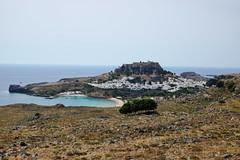 Lindos   on Rodos (DirkVandeVelde Back) Tags: europa europ europe griekenland greece rodos rhodos lindos  zuidegescheeilanden akropolisvanlindos hetwittestadje