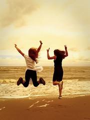 Jump (Marc Gommans) Tags: michelle lesly cadzandbad cadzand bad beach summer holidays vakantie fun outdoor dxo olympus omd em1 water zomer girls springen happy sigma19mmf28dn primelens northsea strand zee thenetherlands