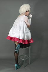 petticoat6 (queerina) Tags: dragqueen sissy smokingcrossdresser smoking crossdresser crossdressing fag fairy effeminate effeminacy poof poofter frock flamer flaming mincing mincer camp limpwristed heavymakeup transvestism m