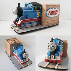 Cake Thomas Fátima Silva Bolos Designer. (FÁTIMA SILVA Bolos Designer) Tags: cakes for children thomas art bolos infantis tortas infantiles torta de bolo do tostas