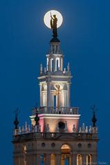 Silhouette at the Plaza (Jonathan Tasler) Tags: kansascity countryclubplaza plaza moon fullmoon silhouette nikond810 400mm