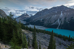 Peyto Lake and Caldron Peak (donrawson) Tags: peytolake caldronpeak canadianrockies dusk