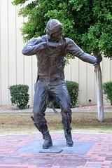 """Naval Aviator"" bronze statue by Jeff Barber (Gerald (Wayne) Prout) Tags: navalaviator bronzestatue jeffbarber palmspringsairmuseum palmspringsinternationalairport palmsprings riversidecounty california usa prout geraldwayneprout canon canoneos40d sculpture"