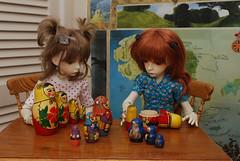 Something (Little little mouse) Tags: dollstown ganga susie seola7 hazel dt7 bjd dollfie matryoshkadoll russiandolls