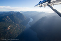 Narrows Inlet (Jason Pineau) Tags: otter dehavilland dhc3 dhc3t turbine harbourair bc britishcolumbia coast aerial above view wing narrows inlet morning sunshine