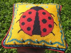 2015-09-05_Ladybug-needlepoint-pillow-3 (mmmyarn) Tags: needlepoint