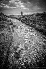 Path to the Castle (bobf62) Tags: d600 bobfogertyphotography castle dunstanburgh nikkon nikkor path monochrome mono nikon northeast northumberland