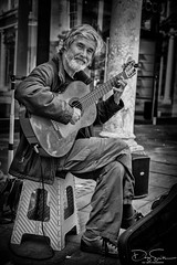 guitarman-street portrait (Daz Smith) Tags: dazsmith canon6d bw blackwhite blackandwhite bath city streetphotography people candid canon portrait citylife thecity urban streets uk monochrome blancoynegro man beard sitting bucker playing muic musician busker guitar singing