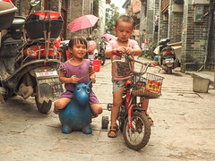 kids on bikes copy (anwoody) Tags: approved xingping china guano people streetlife