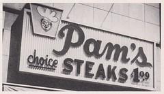 Pam's Choice Steaks (hmdavid) Tags: signsofthetimes magazine vintage ad advertisement sign signage plastic midcentury design pams steaks brooks neon cleveland ohio chef script cadco