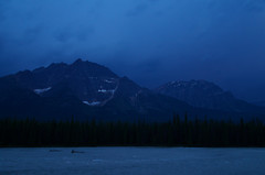Echos of Thunder (Kristian Francke) Tags: banff icefield parkway rockies rocky mountains national park alberta canada tamron pentax storm thunder blue green river athabasca landscape dark dusk nature clouds cloud