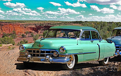 1952 CADILLAC SERIES 62 SEDAN (Rennett Stowe) Tags: 1952cadillac cadillac twotonecadillac twotonegreen 1952greencadillac car automobile auto greencar greenautomobile desert desertsouthwest carinthedesert twotone1952greencadillac 1950scadillac early1950scadillac 1950scar 1950sautomobile whitewalltires prettycar beautiful desertlandscape automobilephotography creativecommons creativecommonscar headlights prettygreen beautifulgreen serene carclub cadillacclub reddesert canon canoneos5dmarkiii canyondechelly style 1950s classicstyle americanautomotiveindustry classicamericanautomobile sexy advertising marketing automobileadvertising ilovegreen carculture design designtheory excess contradiction juxtaposition chrome carchrome vintagecadillac vintagecar vintagegreencar vintage filmlocation usa professionalautomobilephotography 1952cadillacseries62sedan cadillachistory historic motionpicturelocationfilming filmset movielocationthemountainbetweenus