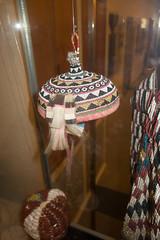 Malaysian native beaded headwear (quinet) Tags: 2015 aborigne borneo iban kuching kuchingtextilemuseum malaysia sarawak ureinwohner aboriginal native