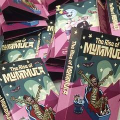 Rise of Mummula (Tom Bagley) Tags: mummula ericblair columbus ohio bandages horrorpunk cartoon humour illustration tombagley creepy eerie weird cassettecover calgary alberta canada