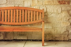 The empty bench (comeback_special) Tags: bench fineart recreation wood stone wall natural overlay canon70d beamsville ontario