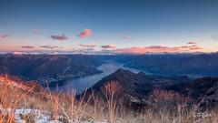 Dal monte san Primo (JackX91) Tags: monte montagna mountains lake lago di como sky cielo natura panorama 169 erba grass alba sunrise golden hour blue