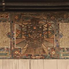 Grand Central Tile Train (lefeber) Tags: newyork newyorkcity nyc city urban architecture building interior grandcentralterminal subwaystation underground mosaic tiles train wall