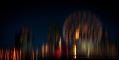 Twilight Reflections (Katrina Wright) Tags: falsecreek nightime twilight dsc2736 reflections citylights landscape telusscienceworld vancouver panorama