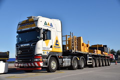 Ainscough Scania Ballast Wagon (Jack Westwood) Tags: ainscough ainscoughcranehire ainscoughcrane ainscoughheavycranes ainscoughballastwagon scaniav8 scania nooteboom nooteboomlowloader