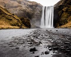 Skogafoss (Stuart Feurtado) Tags: iceland skogafoss d600 winter water nikon cascade rockface ice waterfall cliff snow