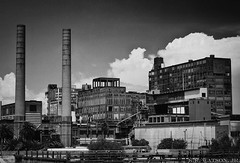 Domino Sugar Factory (K.R. Watson Photography) Tags: new white black building river mississippi katrina orleans factory sugar lousiana domino