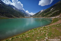SAIFUL-MOLUK LAKE (PHOTOROTA) Tags: pakistan mountain lake reflection green nature colors landscape nikon flickr kaghan abid parbat greatphotographers flickraward concordians goldstaraward nikonflickraward photorota