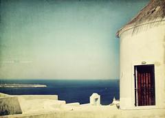 dreaming (silviaON) Tags: sea mill view august santorini greece textured 2012 deepavali ourtime innamoramento memoriesbook bsactions pioneerwomanactions kimklassentextures agorathefineartgallery