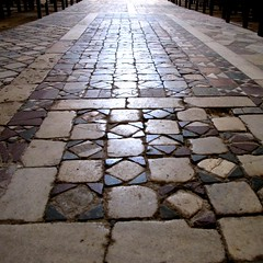 SS Severo and Martirio (pienw) Tags: pavement geometry middleages umbria inlay orvieto benedictinemonastery cosmati abbeysaintsseveroandmartirio