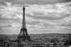 Paris Eiffel Tower b/w
