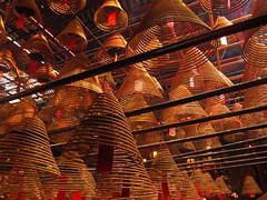 Incense, Man Mo Temple (jleathers) Tags: china temple hongkong asia soho buddhism incense sar hollywoodroad shengwan incsensecoils