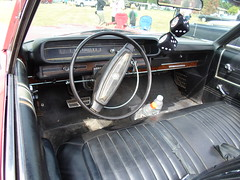 1968 Meteor Montcalm Convertible interior (dave_7) Tags: red classic car market convertible canadian meteor montcalm