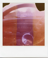 Commuting (T-Terror) Tags: car polaroid sx70 mercury dash comet steeringwheel stationwagon 1963 expiredfilm ndfilter 600film polaroidsx70alpha1 roidweek2012