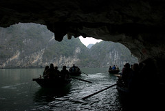 Floating Villages (VinayakH) Tags: sea bay floating villages unesco vietnam karst halong halongbay unescowhs floatingvillages limestonekarst