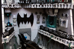 The BATCAVE- second floor (Fianat) Tags: castle rock dark batcave lego space bruce bat batman knight cave the