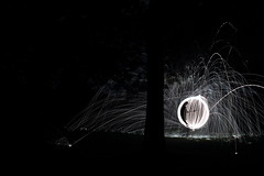 To Orb Alone (Alexis Peace Hall) Tags: blackandwhite lightpainting landscape cityscape orb lg golfcourse lp paintingwithlight lightgraffiti newcastleupontyne gosforth sigma1770mm canon7d wirewoolspinning alexispeacehall alexispeacehallcom southgosfoth